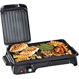Daewoo Electric 2in1 2200W Health Grill and Griddle Machine - 10 Portion - Black