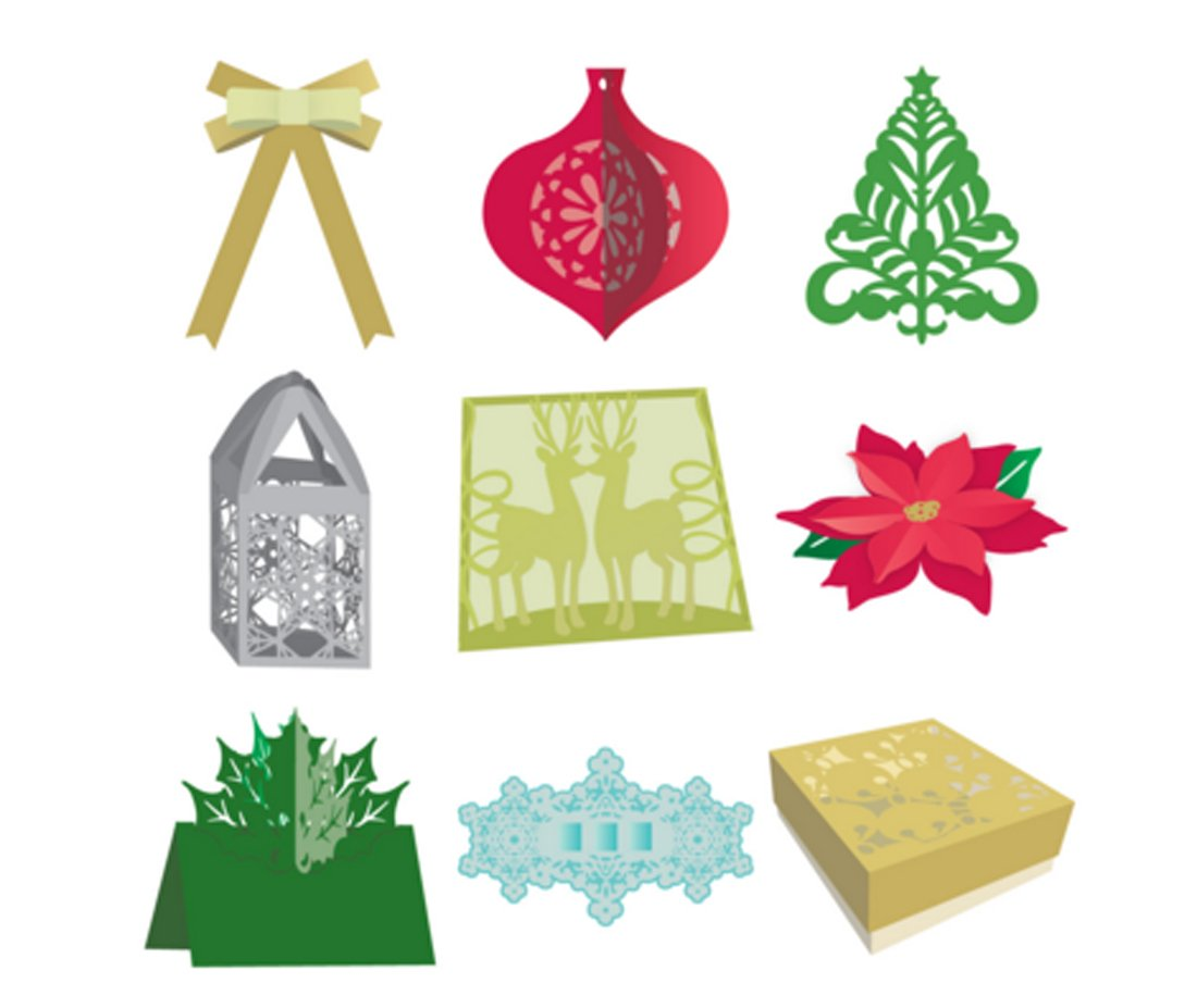 Cricut Annas Holiday Home Decor Cartridge Decor Digital Set Arts Crafts Sewing Scrapbooking