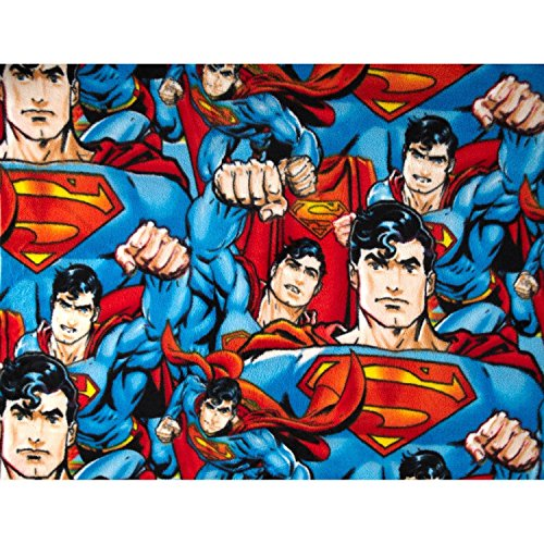 (Superman Characters Tossed Fabric Fleece - Officially Licensed (Great for Quilting, Throws, Sewing, Craft Projects, Wall Hangings, and More) 1/2 Yard x 60
