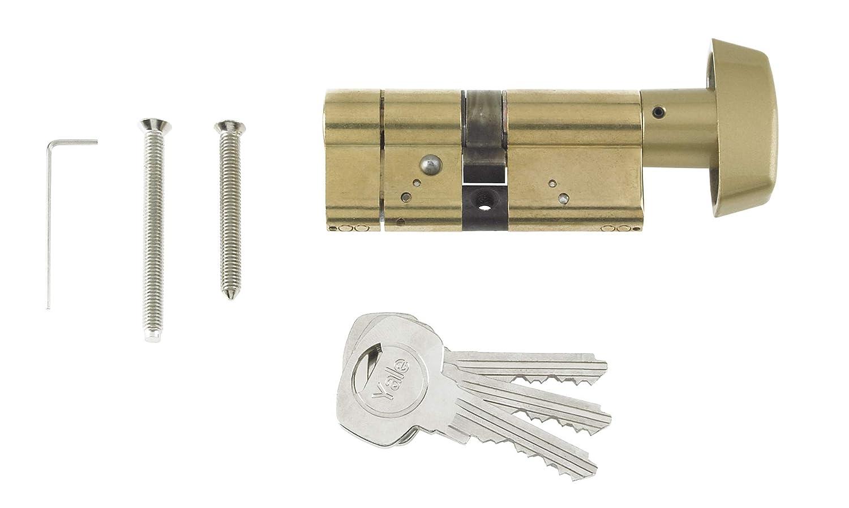 High Security Yale PKMT3030-NP // 30:10:30 Nickel Finish Thumbturn KM Superior 1 Star Euro Cylinder Lock 70mm 30//30