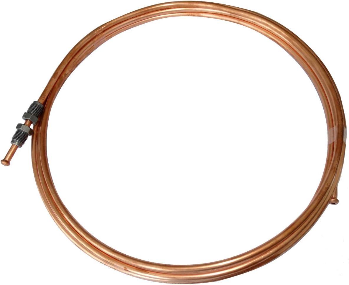 300cm AERZETIX Conduite de Freins Tuyau Tube en cuivre /Ø4.76mm avec raccords M10x1//M10x1