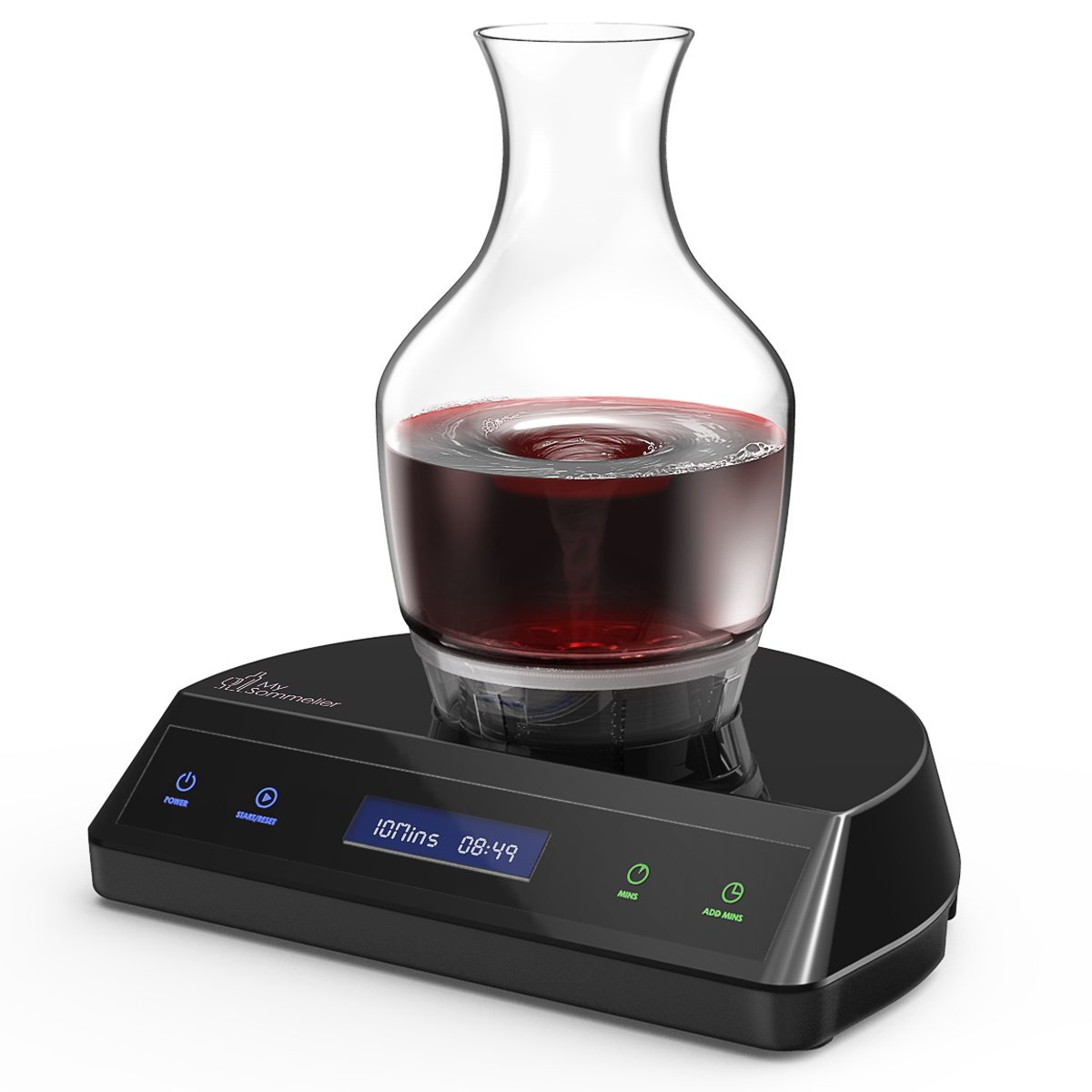 HUMBEE Chef My Sommelier Electric Wine Aerating Decanter, Black