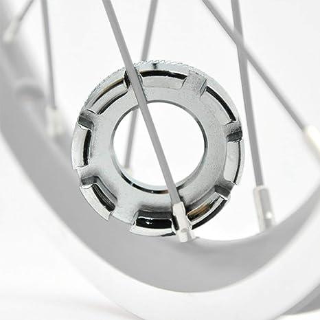 WIKEA 6 tamaños en 1 Bicicleta Llave de radios de Bicicleta Herramienta de radios, Llave de radios de Bicicleta Llave de radios de 8 vías Llave Llave Inglesa (Astilla): Amazon.es: Deportes y