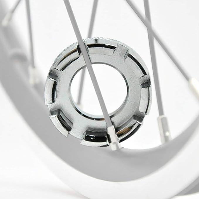 WIKEA 6 tamaños en 1 Bicicleta Llave de radios de Bicicleta ...