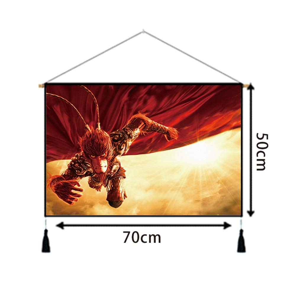 50CM×70CM Tapestry Animation Film and Television Characters Tapestry Bedroom Living Room Wall Hanging Corridor Porch Background Decoration Painting Tapestry (Color : B) by HappyL