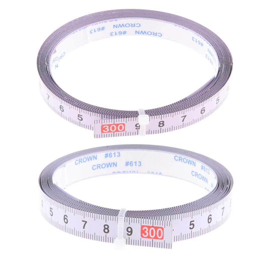 Set of 2 Self Adhesive Measure Tape Metric Stick Ruler, 300cm, Right to Left and Left to Right