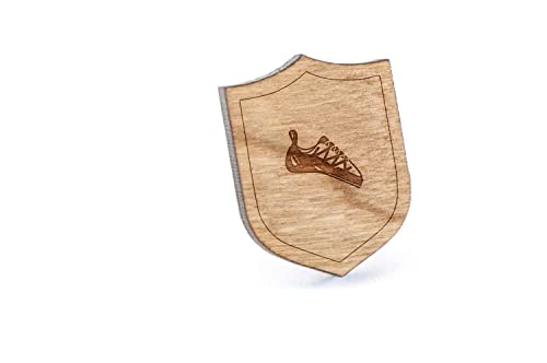 5243f2a5380 Amazon.com: Rock Climbing Shoes Lapel Pin, Wooden Pin and Tie Tack ...