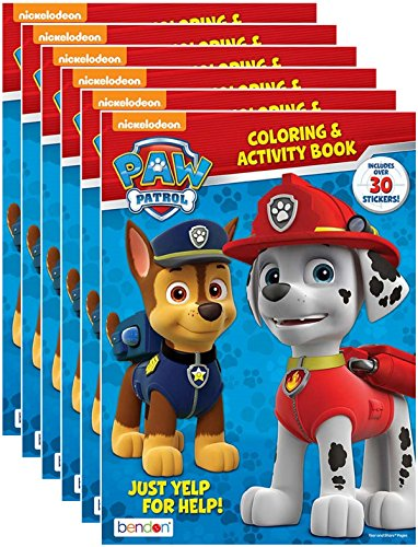 NEW Paw Patrol Coloring & Activity Book w/ Stickers  Chase M
