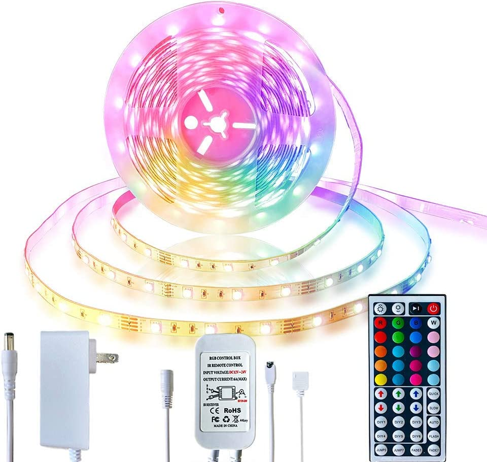 Inscrok 16 4ft Led Light Strips 5050 Rgb Led Strip Lights For Bedroom Aesthetic Room Decor Home Decorations Multicolor Synchkg121841 Amazon Ca Tools Home Improvement