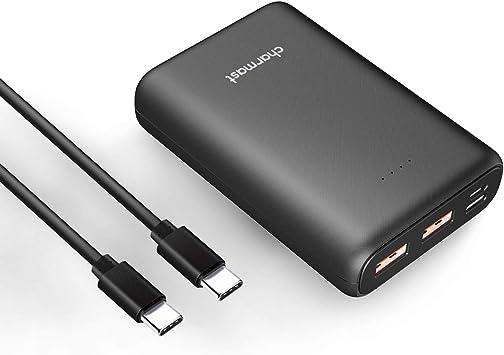 Charmast Batería externa de alta velocidad Mini USB 3.0 para iPhone, iPad, Samsung, Huawei y Nintendo Switch (10400mAh) Negro: Amazon.es: Electrónica