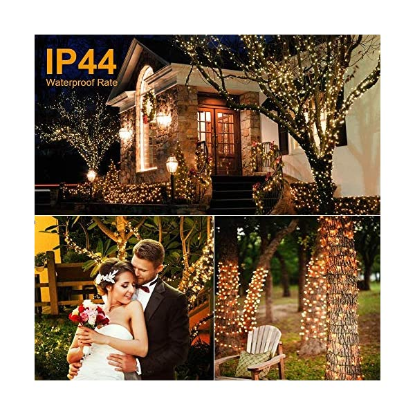 Avoalre Catena Luminosa 2000 LEDs 50M Stringa Luci Natale 8 Modalità Interno/Esterno Impermeabile LED Luci Decorative per Atmosfera Romantica Camera Festa Nozze Compleanno Natale Bianco Caldo 5 spesavip