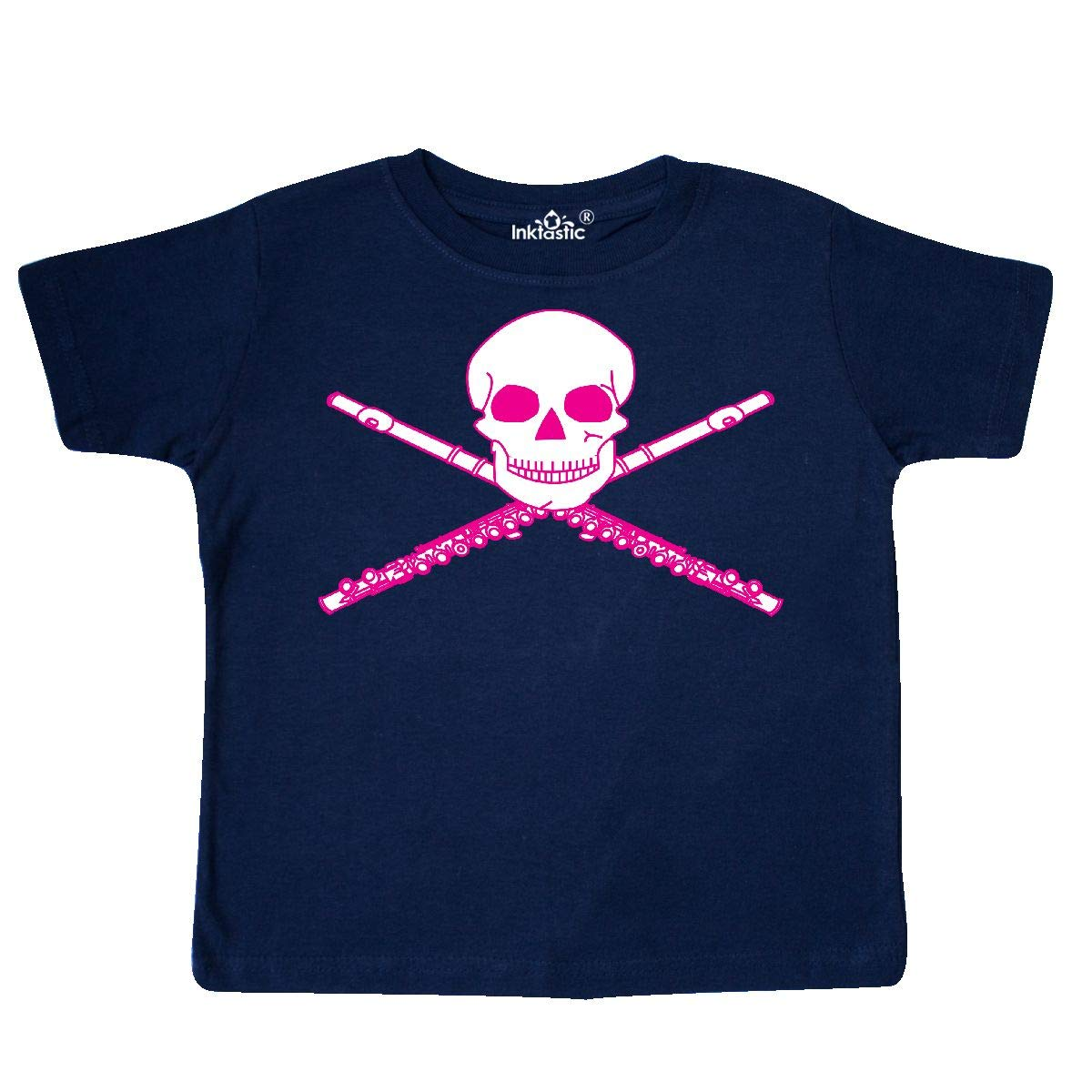 inktastic Flute Pirate Skull Crossbones Toddler T-Shirt