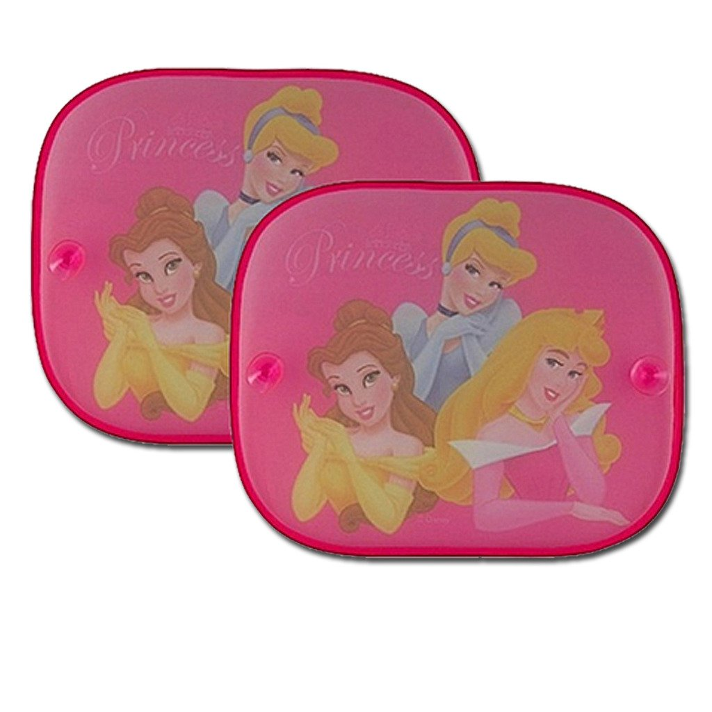 2 DISNEY PRINCESS KIDS CAR WINDOW SUNSHADE SUN SHADE FOLDING BLIND SIDE PANELS CHILDRENS VISORS