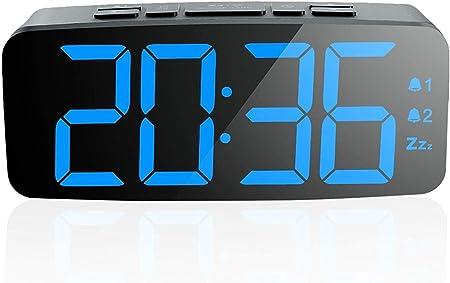 ZLSANVD Radio réveil LED, réveil LED avec Musique avec