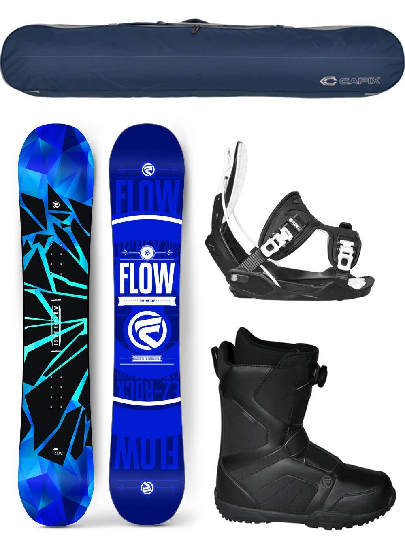 Flow 2019 Burst Men's Complete Snowboard Package Bindings+BOA Boots+Bag 4 YR Warranty 148cm
