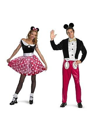 Disney Minnie Mouse and Mickey Mouse Couples Costume Set  sc 1 st  Amazon.com & Amazon.com: Disney Minnie Mouse and Mickey Mouse Couples Costume Set ...