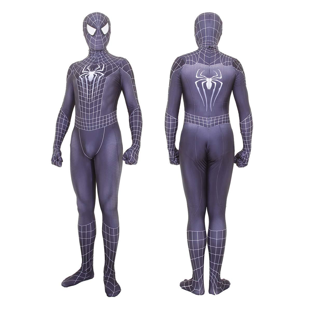 Girls Kids Cosplay Gwen Venom Spider man Costume Fancy Dress Zentai Jumpsuit