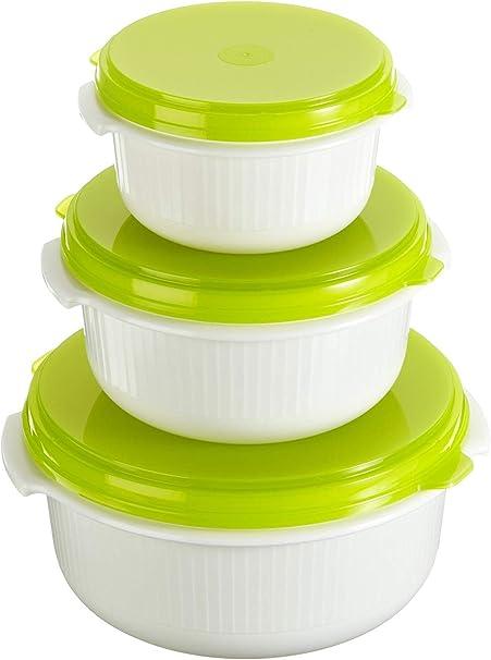 Emsa 509741 Juego de recipientes para microondas, color verde y ...