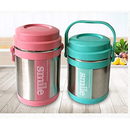 a1f66a329b17 Amazon.com : YONGYONG Stainless Steel Double-Layer Insulated Lunch ...