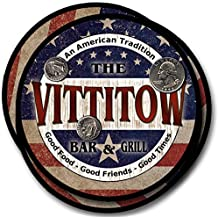 Vittitow Bar and Grill Rubber Drink Coasters - 4 Pack