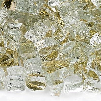 American Fireglass 5-Pound Reflective Fire Glass Fireplace Fire Pit Glass, 1/2-Inch, Cobalt Blue