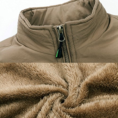 Warm hombres Zhhlinyuan Hunting Coats de Verde Jackets Winter los ropa Waistcoat Mens Cycling Vest Zipper de deporte Photography Men's Fishing qqgEvwZ