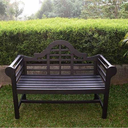 4' Lutyen's Bench, Dark Brown - Lutyens Garden Bench