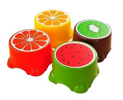 Wge lovely fruit sgabello bambini antiscivolo sgabello bagno