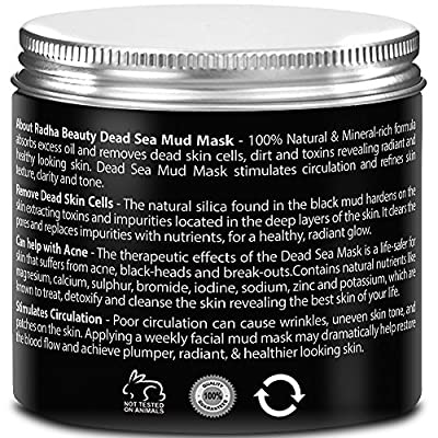 Dead Sea Mud Mask for face 8.8 oz - THE BEST natural facial treatment and cleanser to eliminate toxins in the skin - Minimizes facial Pores, Reduces Wrinkles, Helps with Acne and Improves Complexion