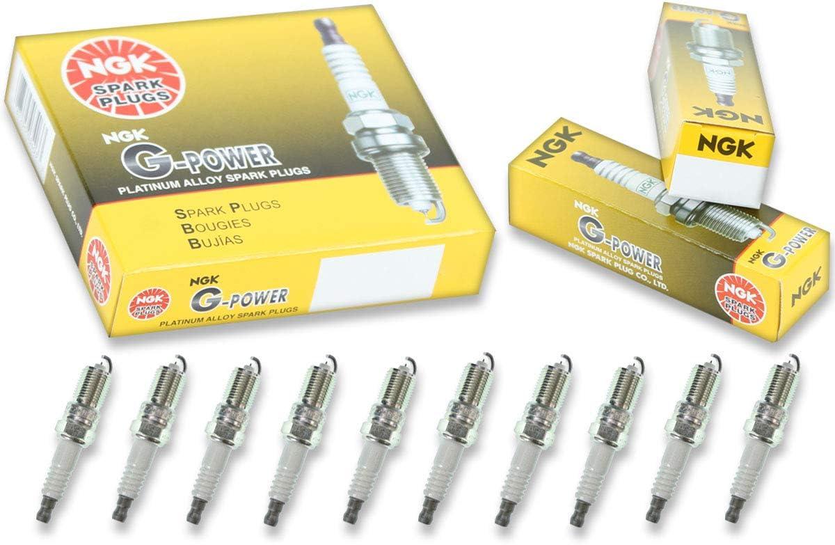 10 NGK V-Power Plug Spark Plugs 2003-2014 Ford E-450 Super Duty 6.8L V10 Kit