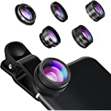 Phone Camera Lens, Hizek 5 in 1 Universal Clip On Cell Phone Kit obiettivo per iPhone 7/7 Plus / 6s / 6/5, Samsung S7 / S7 Edge