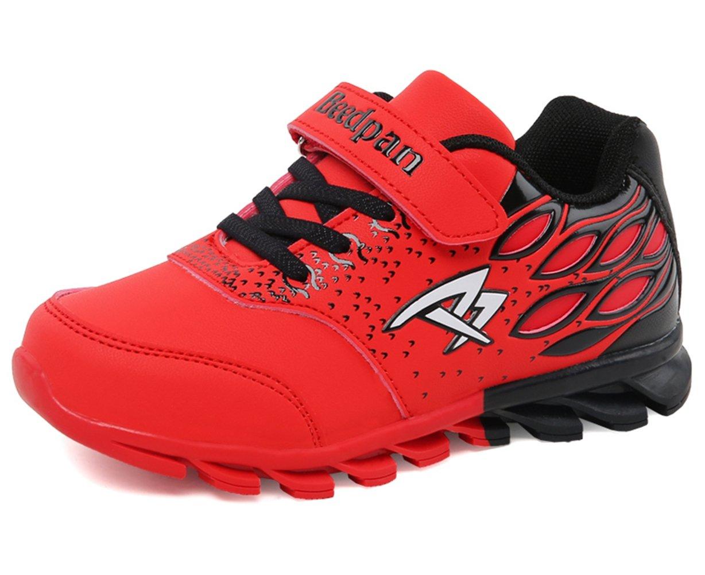 U-MAC Boys and Girls Sneakers Breathable Velcro Strap Athletic Running Shoes (Little Kid/Big Kid) by U-MAC