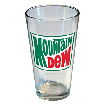 amazon icup mountain dew classic logo pint glass by icup icup