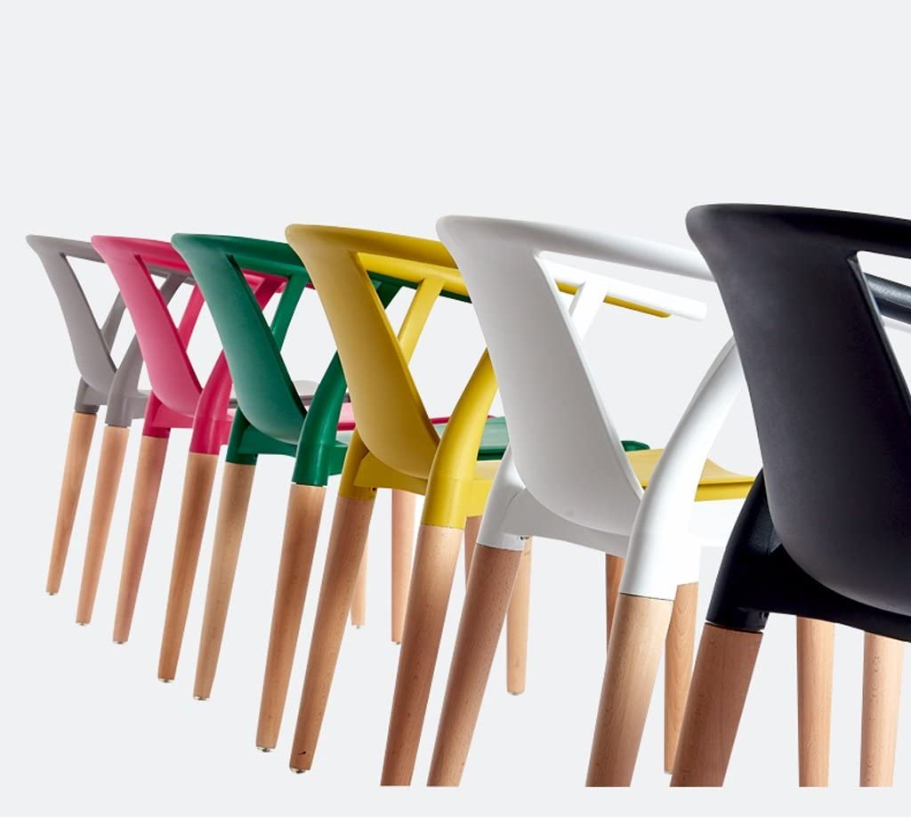 XXT Home Stuhl Esszimmer Stuhl Moderne Freizeit kreative Stuhl zurück Kunststoff Sessel Langlebig (Color : F) E