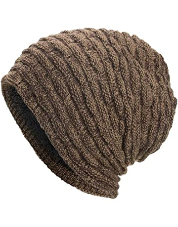 Women Men Warm Winter Baggy Beanie Hat BCDshop Crochet Knit Caps Skull Hats  Elastic dd041ee45822