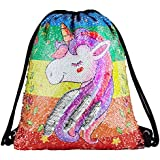 Sequin Drawstring Backpack Gym Dance Bags...