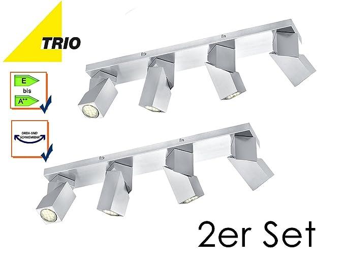 Set of 2 gu10 downlight daxter spot light bar 4 bulb pivoting spot set of 2 gu10 downlight daxter spot light bar 4 bulb pivoting spot lights asfbconference2016 Image collections