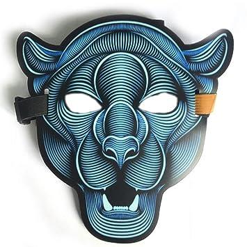Máscaras De LED De Halloween, Ropa Máscaras De Terror Grande Casco De Luz Fría Fiesta