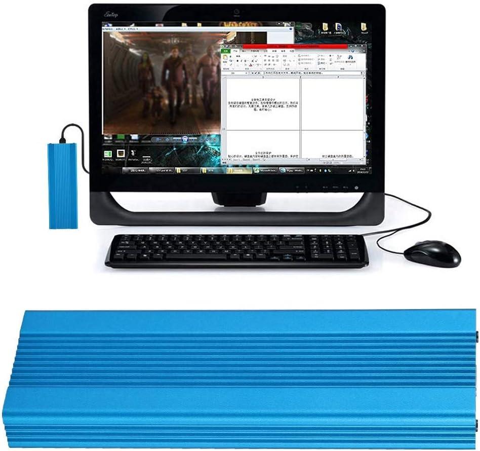 Noir ASHATA Bo/îtier de Disque Dur USB3.1 /à M.2 NVME Bo/îtier SSD Externe Adaptateur NGFF PCIE vers Type-C pour Win XP//Vista//Win7//Win8//WIN10 32 bits//64 Bits MAC10.8 ou sup/érieur