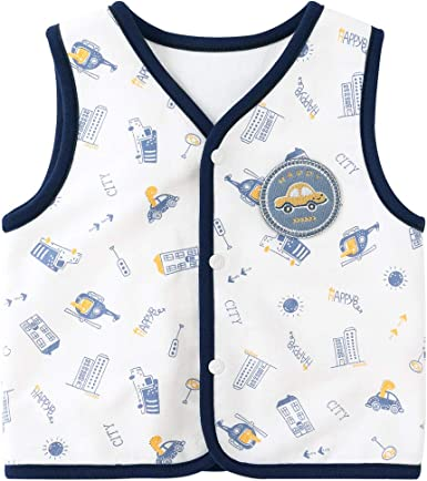 pureborn Baby Toddler Girls Boys Waistcoat Sleeveless Cotton Lightweight Vests 0-4 Years