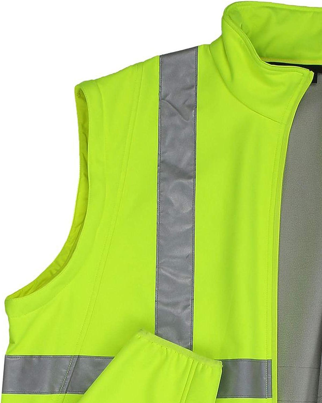 3XL-10XL Marc/&Mark /Übergr/ö/ßen Warnschutz Softshell Arbeitsjacke und Weste Neongelb