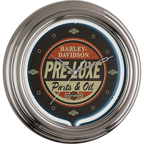 Harley Davidson Pre-Luxe 12in Neon Wall Clock (Harley Davidson Neon Clock)