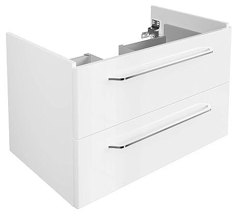 FACKELMANN Waschtischunterschrank Milano/Badschrank mit  Soft-Close-System/Maße (B x H x T): ca. 80 x 49,5 x 48  cm/Waschbeckenunterschrank mit 2 ...