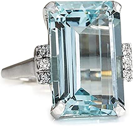 Classic Sky Blue Aquamarine Rings for Women Classic Sky Blue Aquamarine Rings for Women