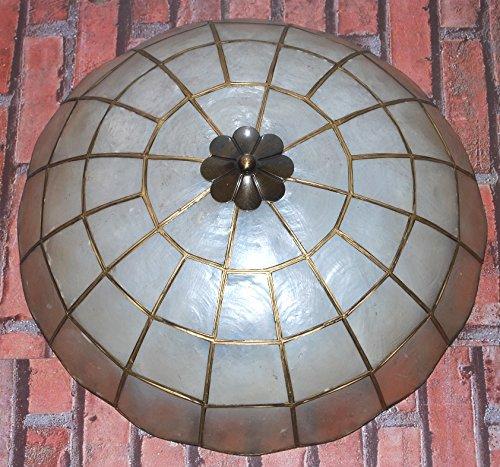 Lámpara de techo rústica nácar, 40 cm: Amazon.es: Iluminación