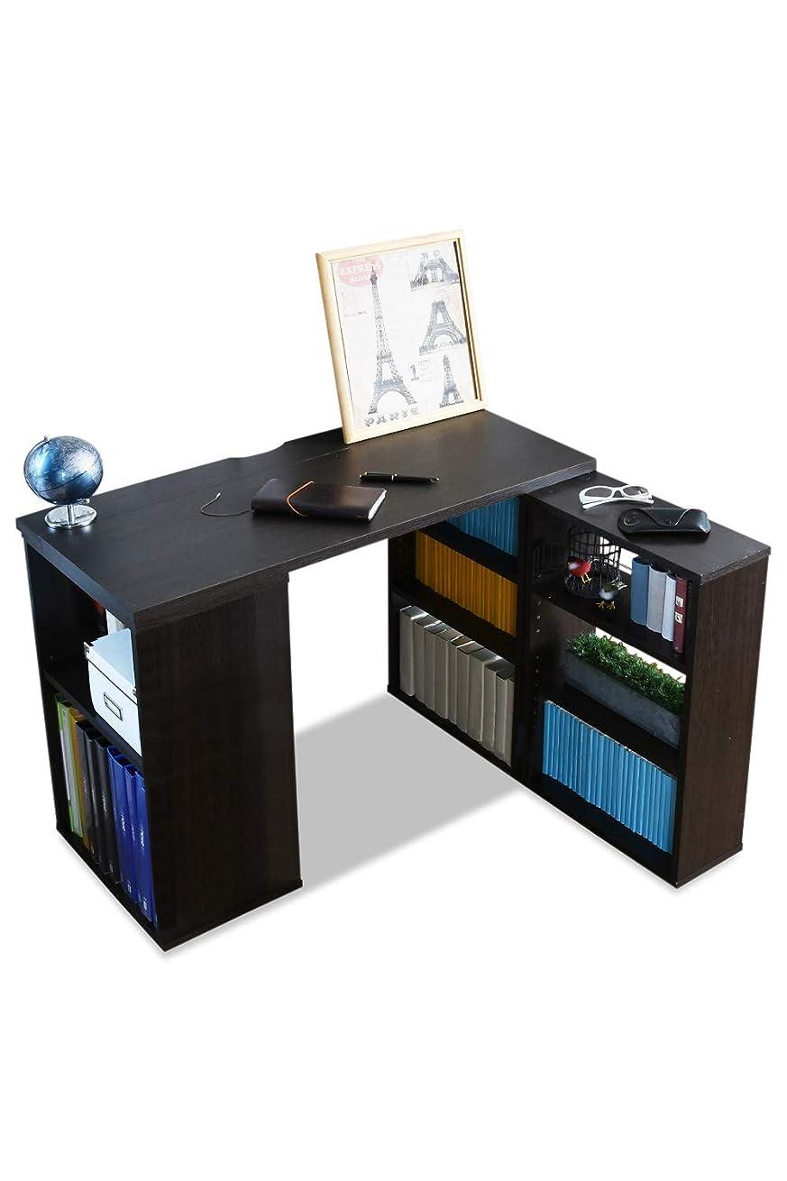 正確に縫うオン山善(YAMAZEN) 木製パソコンデスク(幅60) ダークブラウン SLS-7560D(DBR)