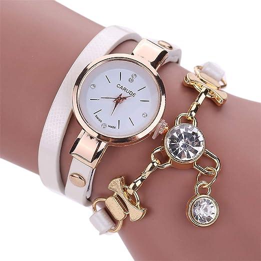 Amazon.com: NEW Fashion Women Watch Bracelet Leather Ladies Watch With Rhinestones Analog Quartz Dress Wrist Watches Gift watch8: Beauty