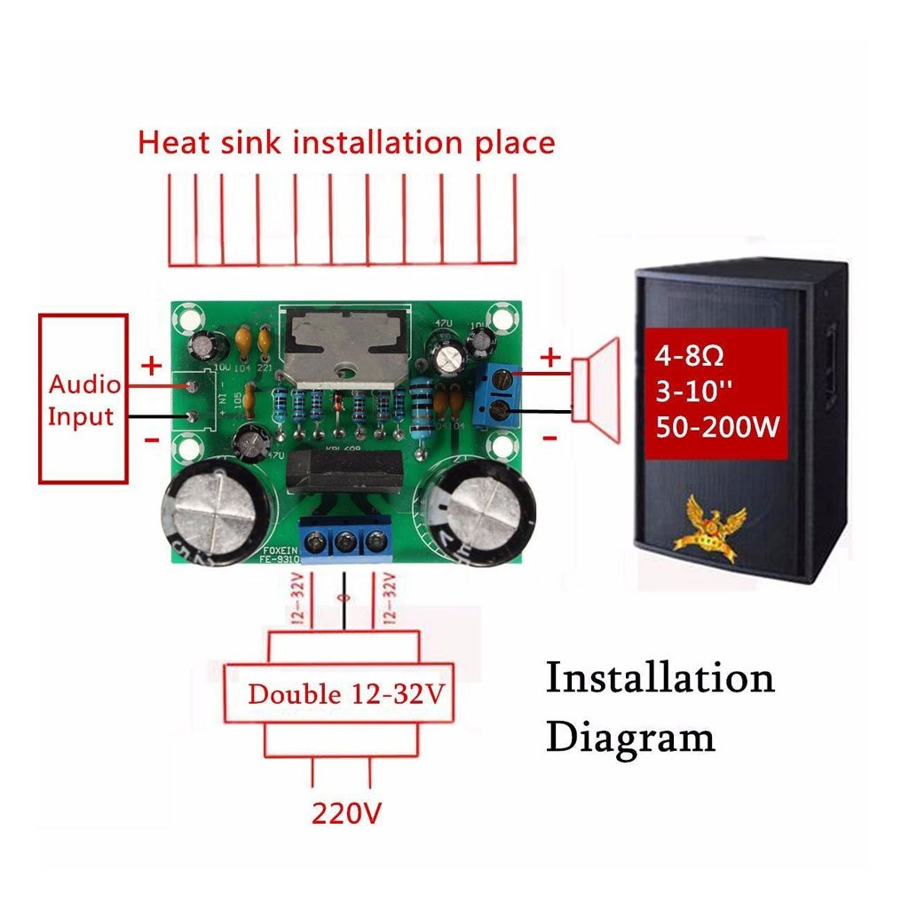 Generic Tda7293 Digital Audio Amplifier Amp Board Mono Circuit Power Stereo With 200 Watts Rms Electronics