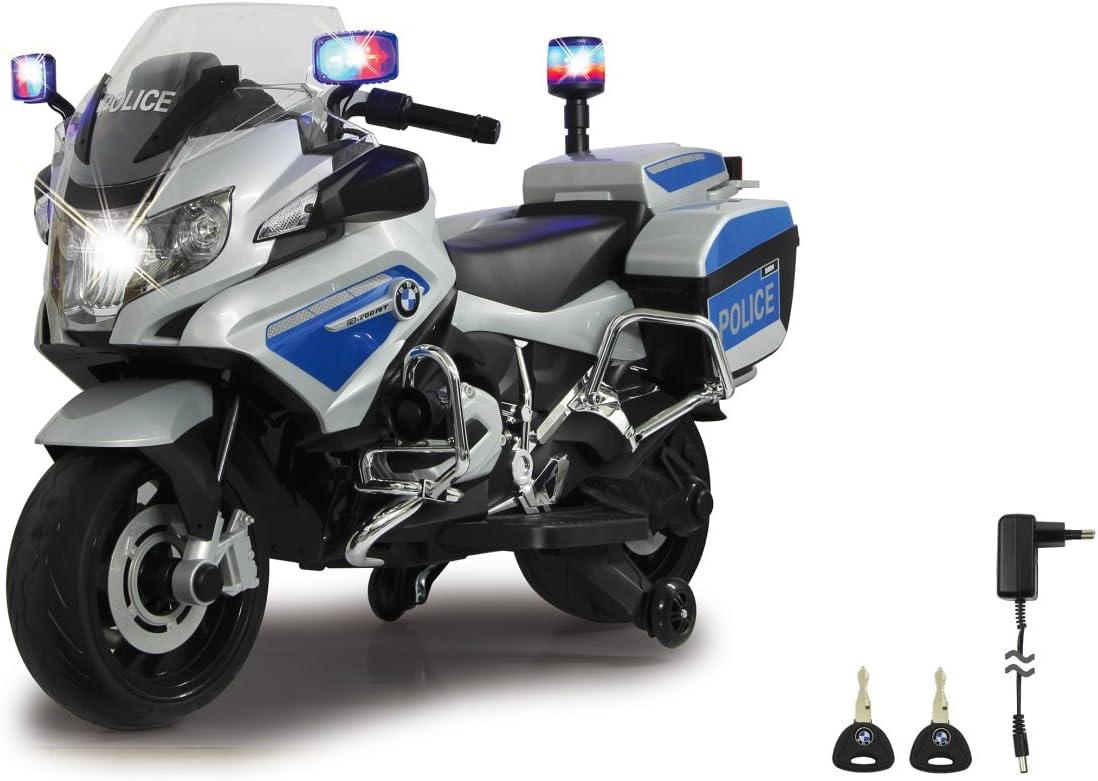 Jamara 460335 - Ride-on Motocicleta BMW R1200 RT-Police 12V – Sirena, Motor potente