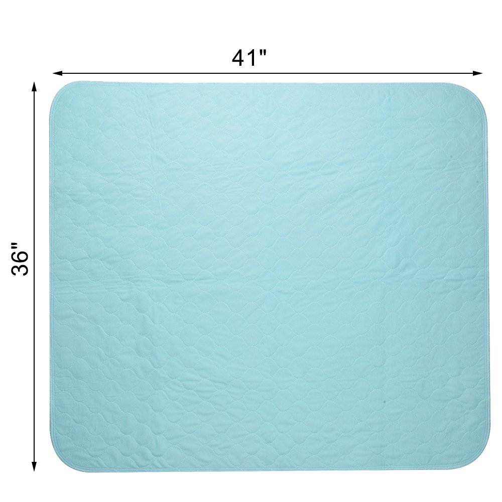 KOOLTAIL Washable Pee Pads for Dogs 2 Pack 36'' x 41'' Puppy Training Pad by KOOLTAIL (Image #3)